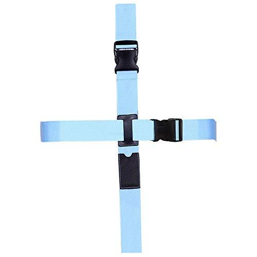 CSTOM Koffergurt Kofferband Gepäckgurt Kreuz Koffer Gurt Blau