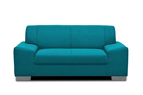 Domo Collection Alisson Couch | 2-Sitzer Sofa, 2er Garnitur, türkis