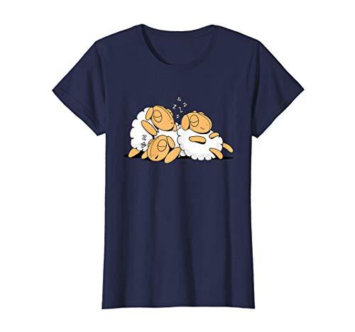 Damen Lustiges Schlafende Schafe Geschenk Für Mama Schlaf Schaf T-Shirt