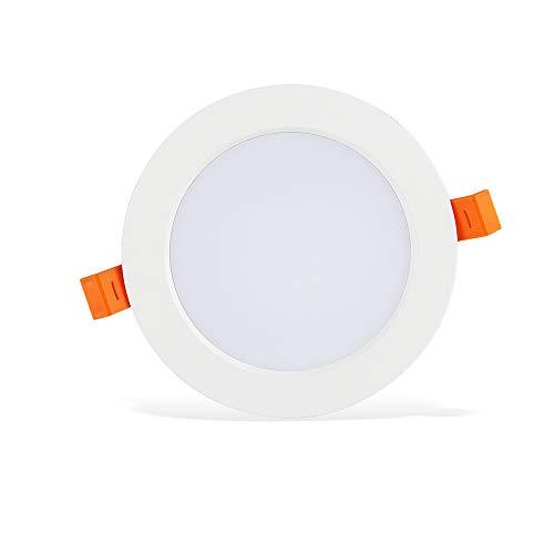 Modenny 7W/9W/12W/18W/24W LED Redondo Downlight Ultra Delgada Luces De Techo Focos Empotrados Panel Luz para Dormitorio Cocina Oficina Comercial Iluminación Decoración (Blanco/Blanco Cálido)