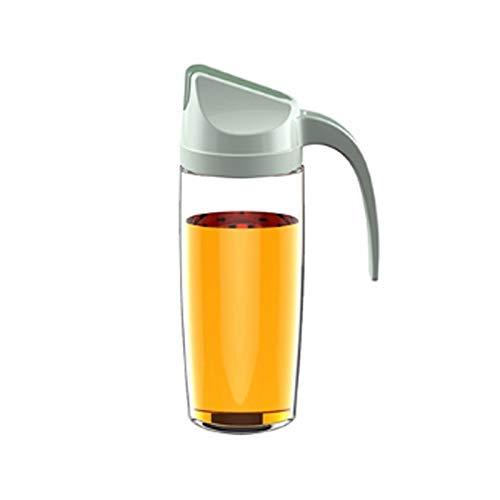 WXX 2 PCS Apertura automática de Abertura y Cierre de Aceite de Aceite Cocina de Gran Capacidad Botella de Aceite a Prueba de Fugas Al hogar Salsa de Soja Conjuntos Botella, Capacidad: 600 ml