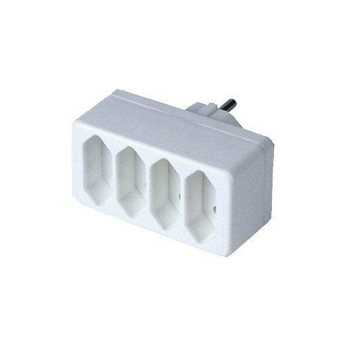 Euro-uebergangsstecker (Lose * 2,5 A * 250 V * Von einer Schutzkontaktsteckdose auf eine 2/4 Europ)