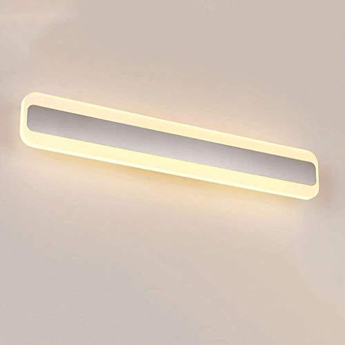 STERA Mesita de Noche Aplique Lámpara de Pared Tubo Cuadrado Cuarto de baño Tocador de luz Accesorio de luz Níquel Cepillado