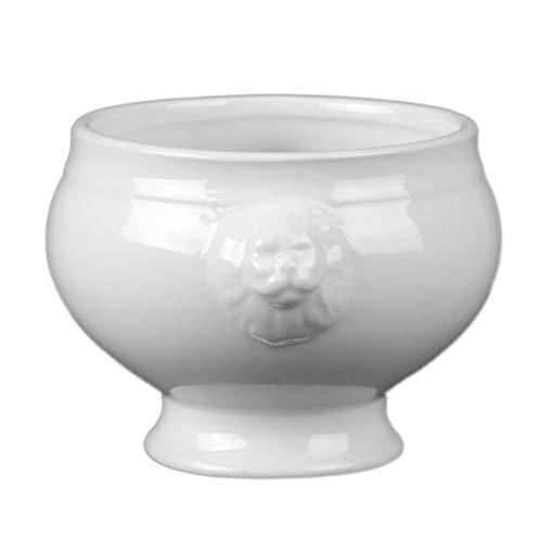 Holst Porzellan Löwenkopfterrine 0,35 l, Porzellan, weiß, 11 cm, 6-Einheiten