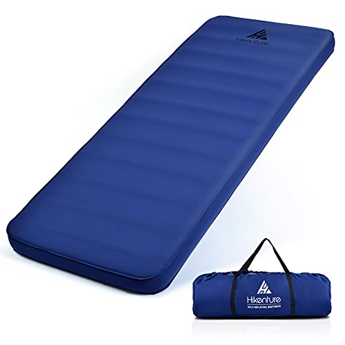 Hikenture Extra Thick Self Inflating Sleeping Pad, Comfort Plus Camping Mattress with Pump Sack, Inflatable Foam Insulated Camping Pad, Protable 4 Inches Thickness and 9.5 R Camping Mat for 4-Season