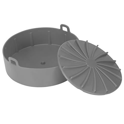 Yagosodee Sartén de silicona para barbacoa, pan, estera para freír, accesorio para olla a presión, herramienta de cocina (gris)