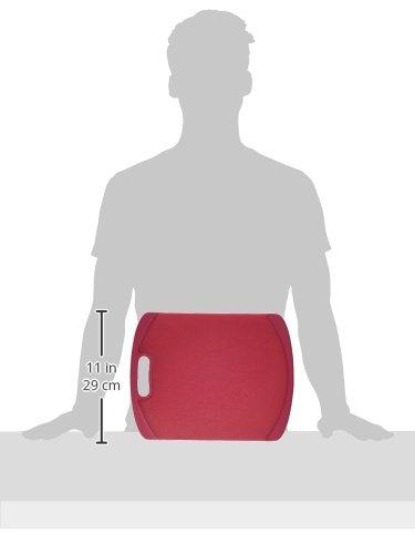 Farberware Nonslip Plastic Cutting Board, 11-Inch-by-14-Inch, Red