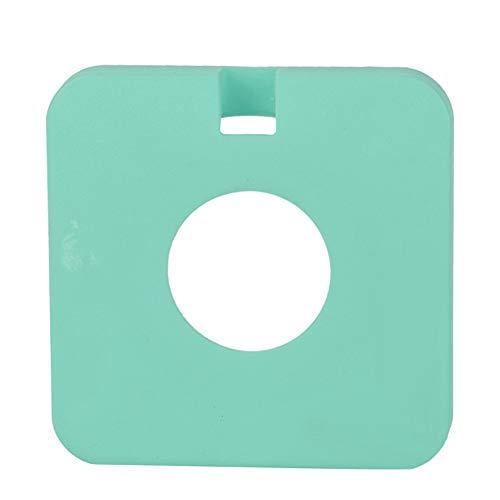 Funda protectora del cargador, conveniente de usar Base de silicona de disipación de calor simple y hermosa para proteger el teléfono móvil y el cargador inalámbrico(yellow)