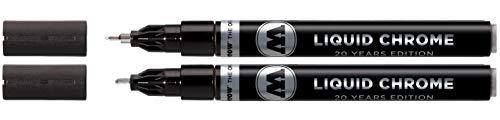 Molotow Liquid Chrome Marker (mit Spezialtinte für echten Spiegeleffekt) 2 Stück chrom