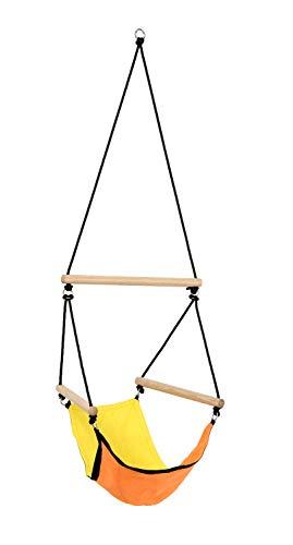 Amazonas AZ-2030485 Kinderhängesessel Kid's Swinger 3 - 6 Jahre bis 60 kg Gelb-Orange