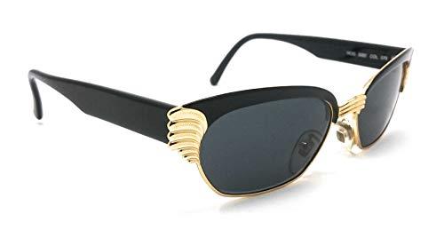 Vogart 3082 070 - Gafas de sol para mujer, color negro y dorado, diseño de mariposa, fabricadas en Italia