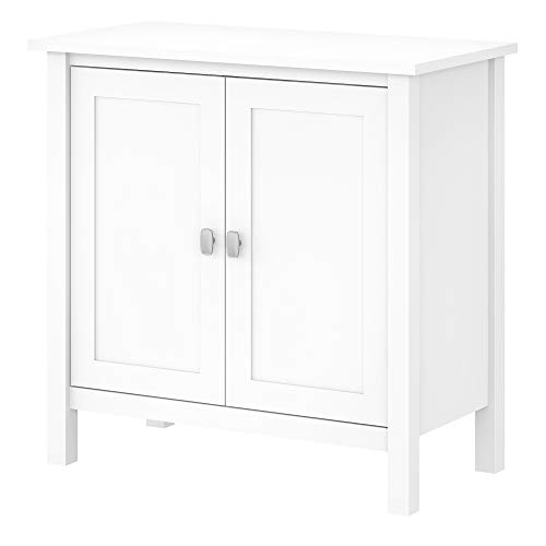 Bush Furniture Broadview Accent Storage Cabinet with Doors, Pure White