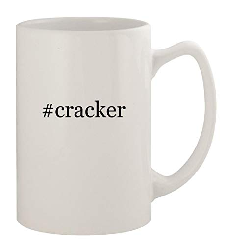 #cracker - 14oz Ceramic White Statesman Coffee Mug, White