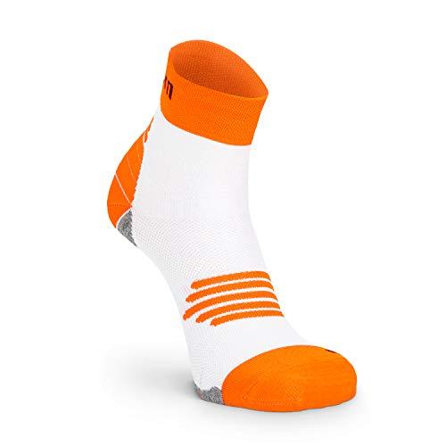 Nordhorn Kurze Sportsocken für Damen und Herren, Quarter Sneaker Socken Atmungsaktiv zum Laufen, Joggen, Fitness, Radfahren (Orange, 41-43)