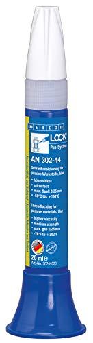 Weicon 30244020 WEICONLOCK AN 302-44 20 ml Schraubensicherung für passive Oberflächen, blau