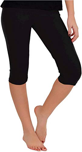 Stretch is Comfort Women's Teamwear Knee Length Leggings Black Large