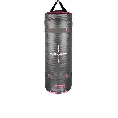 MaxxMMA Training amp Fitness Water/Air Heavy Bag Uppercut Workout Grappling MMA Punching Bag Grey/Pink