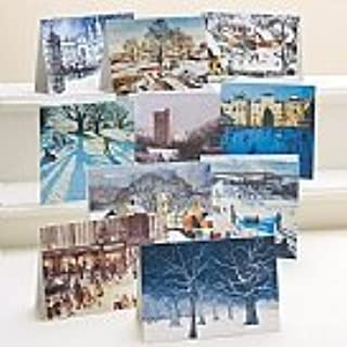 TRADITIONAL BRITISH WINTER CHRISTMAS CARDS -35 CARDS WITH MATCHING ENVELOPES