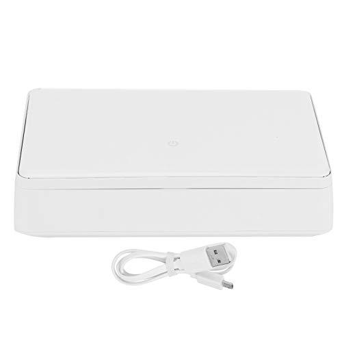 Limpieza del teléfono móvil Caja de limpieza Máquina de limpieza del teléfono Limpiador ultravioleta Casa inteligente y fácil de teléfonos móviles para el hogar(white)