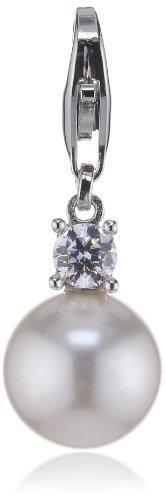 ESPRIT Jewels Damen-Charm Finery Pearl 925 Sterling Silber ESCH91309A000