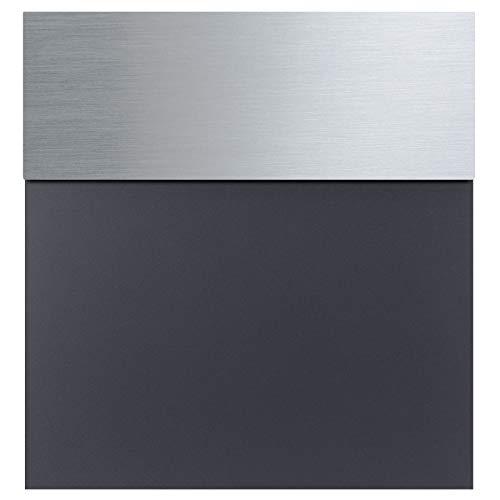 Briefkasten anthrazit-grau (RAL 7016) MOCAVI Box 580 Postkasten Edelstahl-Deckel V4A modern, matt, rostfrei, deutsche Qualität, Din A4