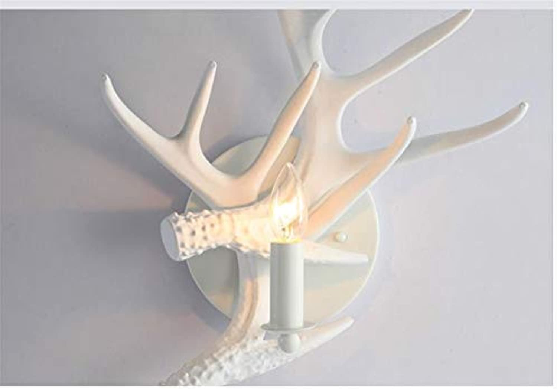 Aussenlampe Wandbeleuchtung Wandlampe Wandleuchte Innen Amerikanische Kreative Wandlampe Weie Geweih-Persnlichkeitsdekoration