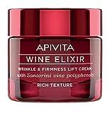 Crema antiarrugas y reafirmante con efecto lifting Wine elixir textura rica Apivita 50 ml
