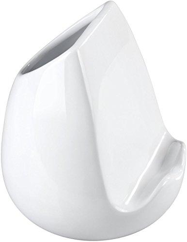Wenko 53800100 Utensilo avec Porte-Tablette, Céramique, Blanc, 15 x 15 x 16,5 cm