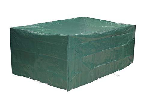 Kronenburg Schutzhülle für Tisch Stühle Sitzgruppen Sitzgarnituren Abdeckhaube, Grün, 242 x 162 x 100 cm - Abdeckung für Gartenmöbel - weitere Schutzhüllen wählbar