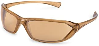 Gateway Safety 23CL5M Metro Ultra-Stylish Eye Safety Glasses, Bronze Mirror Lens, Caramel Frame
