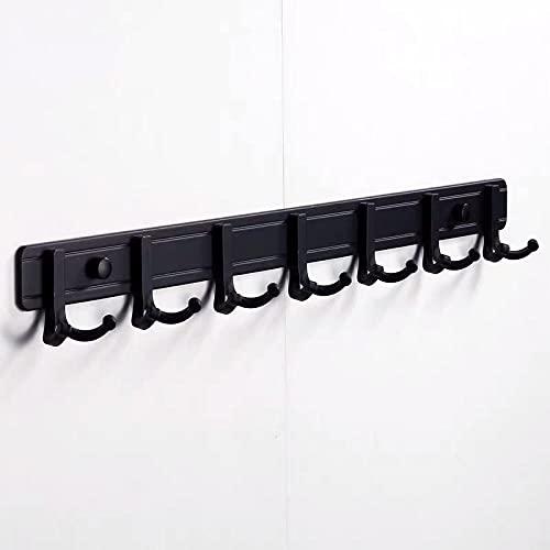 Aleación de aluminio negro perforado o libre perforado, fácil de instalar gancho de toalla de pared, gancho de abrigo de dormitorio de baño-C5 Gancho para toallas de pared fácil de instalar