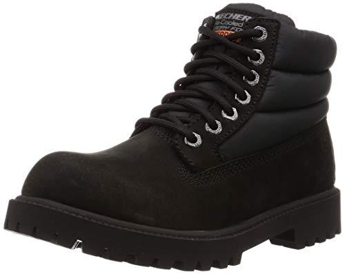 Skechers Sergeants-verno, Bottes & Bottines classiques Homme, (Black Leather Bbk), 44 EU