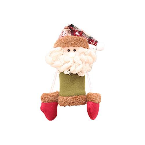 Fablcrew Weihnachten Cap Weihnachtsschmuck Weihnachten Tabelle Weinflasche Kappen Champagner Weinflasche Abdeckung Tuch Weinflasche Set Szene Dress Up Ältere Menschen