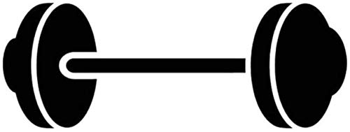 YUFUD Autoaufkleber Auto Aufkleber Grafiken Hanteln Gewichtheben Sportwagen Aufkleber Vinyl Auto Styling 16,6 cmX6,1 cm 2pcs