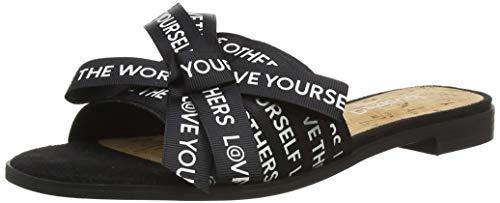 Desigual Shoes Mambo Lettering, Sandales Bout ouvert Femme, Noir Negro 2000, 37 EU