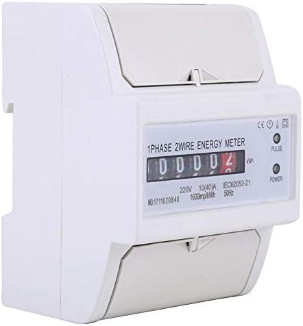 Fournyaa Zeer nauwkeurig lichtenergieverbruikmeter antidiefstalhuishoudenergiemeter hoge stabiliteit binnen en buiten
