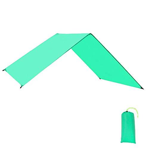 GEERTOP Zeltböden Schutzplane Zeltplanen Zeltunterlage Polyester 1-4 Personen Leichte Wasserdicht für Zelt Wanderungen Camping Picknick (Grün, 180x210cm)