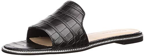 BCBGeneration Women's Zahara Flat Sandal, Black, 7 M US