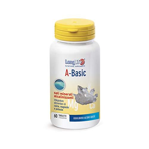 A-Basic LongLife | Integratore di Sali minerali alcalinizzanti | con Potassio, Calcio e Magnesio | Equilibrio Organismo | 60 tav