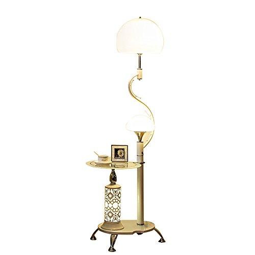 Lampe de chevet canapé table basse lampe salon chambre lampadaire (Couleur : Blanc)