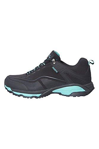 Mountain Warehouse Collie Wasserfeste Schuhe für Damen - Leichte Damenschuhe, atmungsaktive, weiche Wanderschuhe - Ideal zum Wandern in Allen Jahreszeiten Schwarz 37 EU
