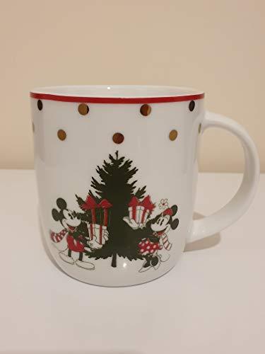Tazas de Navidad de porcelana Mickey 4 Pack