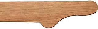 Traditional Wood Bar Arm Rest Molding - End Cap - Red Oak