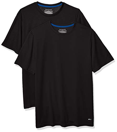 Amazon Essentials Men's 2-Pack Performance Tech T-Shirt, Black, XXL