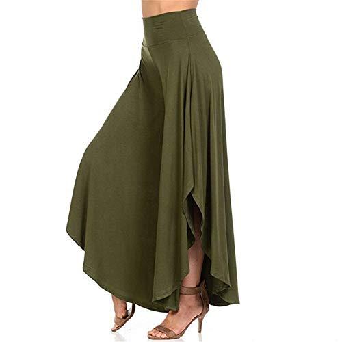 JPDD Damen Hippie Lange Hosen mit Schlitz Lockere Weites Bein Yogahose Sommerhose Damen Hosen Sweatshose Sweatpants Elastischer Bund Jogginghose Pumphose Haremshose Pluderhose Hose Hippiehose