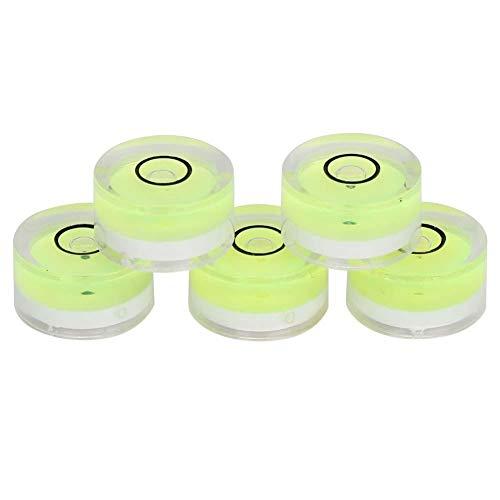 Hoge precisie horizontale koepel, 5 stuks 15 mm diameter meetgereedschap Mini ronde waterpas voor weegschalen