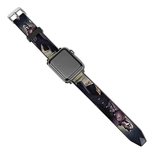 X Men Days of Future - Correa de reloj de piel sintética de repuesto impermeable bicolor para hombres y mujeres - Pulsera de reloj de 38,40,42,44 mm