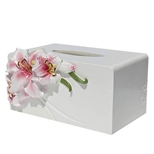 HYY-YY Caja de pañuelos de papel de caja de almacenamiento para pañuelos de pañuelos creativa control remoto de escritorio, sala de estar, mesa de café, hogar, cajón nórdico europeo