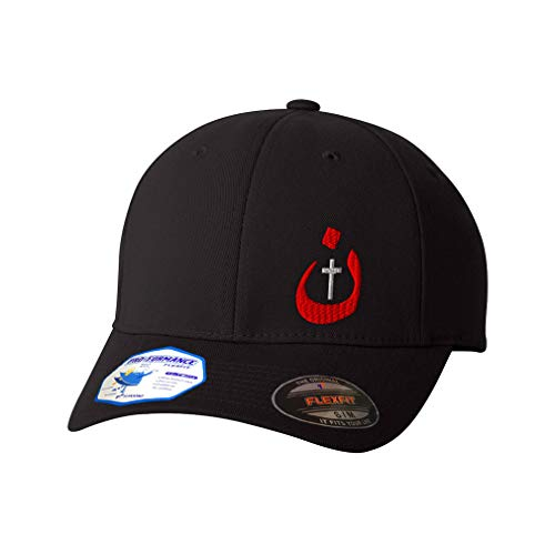 Flexfit Left Side Panel Christian Nazarene Jesus God Embroidery Hats for Men & Women Polyester Black Large XLarge