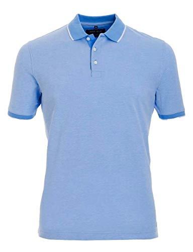 Marvelis Poloshirt Pique Halbarm mit abgesetzten Kragen Reine Baumwolle, Größe:XXL, Farbe:blau